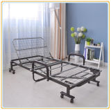 最も新しいDesign Modern Furniture Folding Metal Single Bed (190*65cm)