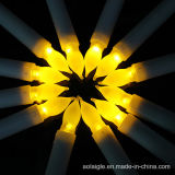 Hohe gelbe flackernde Steuerknüppel-Kerze-Votive Leuchten der Batterie-LED