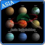 膨脹可能な照明の惑星のヘリウムの気球、地球、月、ジュピター、土星、Uranus、ネプチューンの水星、金星の火星の気球