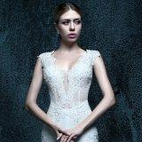 Vraie robe de mariage de tirette de photo d'Appliques (ZXB-33)
