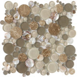 Cocina de mármol redonda del cuarto de baño del azulejo de mosaico de la mezcla del mosaico