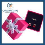 スポンジの挿入(CMG-PJB-131)が付いている赤いリボンの宝石箱
