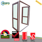 Porta laminada UPVC/PVC australiana do vidro do Casement do padrão