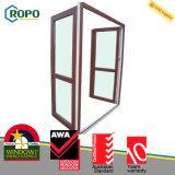 Австралийская дверь стекла Casement стандарта прокатанная UPVC/PVC