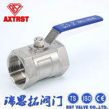 Rosqueado reduzir a válvula de esfera portuária do aço inoxidável 1PC