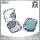 Espelho compacto de metal promocional, espelho cosmético