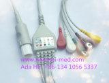 Кабель Hellige Snap&Clip зеленый 10pin 3 ECG