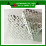 Het Nietige Etiket van /Laser van de Sticker van de Veiligheid van het hologram