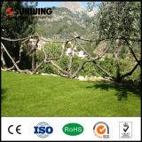 Pista sintetizada artificial verde decorativa del choque del césped con precio competitivo