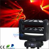 DJ 디스코 8 눈 단계 거미 LED 이동하는 맨 위 광속 점화