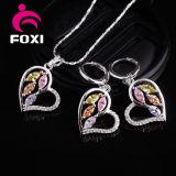El encanto del corazón de la venta al por mayor de la joyería de China diseña conjuntos de la joyería