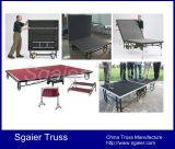 Stufe mit Wheels Folding Stage Mobile Stage mit Portable Stairs