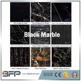 Italiaanse Zwarte Marmeren Plakken Portoro met Gouden Ader