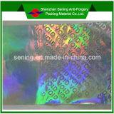 Étiquette de vide de /Laser de collant de garantie d'hologramme