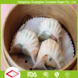 Siliconado antiadherente dim sum al vapor de papel para empanadillas chinas