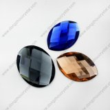 Bestes Quality Faceted Colored Decorative Special Oval Glass Beads für Shoes