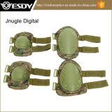 La caza se divierte verde protector del ejército de las pistas de la rodilla y del codo