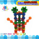Kind-Plastiktischplattenspielzeug-Sonnenblume-Bausteine