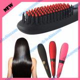 Pincel para cabelo com escova de cabelo com ar quente LCD