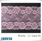 Testo fisso del merletto degli accessori del merletto di Lycra per la larghezza 17.5cm di Shorts dei pantaloni