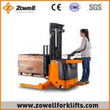 Eléctrico montar el apilador a horcajadas 2 altura de elevación de la capacidad de carga de la tonelada 1.6m