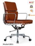 Chaise en aluminium de loisirs de réunion d'Eames de cuir moderne d'hôtel (B01)