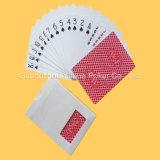 Tarjetas que juegan publicitarias plásticas de papel del póker