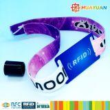 Wristband tessuto RFID del braccialetto di Ntag213 prestampato evento NFC