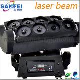 laser Moving Head Light di Fat Beam RGB di 8PCS Lens