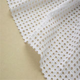 Tissu suisse de lacet tricoté par coton de la qualité 100 (HB067)