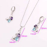 Fashion mais vendido New Jewelry Rhodium Elegant Jewelry Set em Environmental Copper