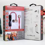 Trasduttore auricolare stereo di vendita caldo di Bluetooth di sport della cuffia avricolare senza fili magnetica del Amazon