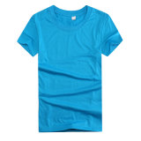 T-shirts 100% ordinaires bon marché promotionnels de coton de blanc