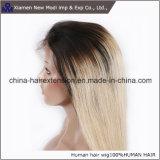 Parrucca brasiliana della parte anteriore del merletto di colori della signora capelli umani due