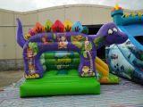 子供党のためにコンボInflatablesの恐竜の警備員のスライド