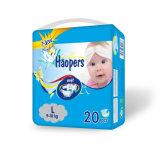 Pañal disponible del bebé del algodón de gama alta con la cinta mágica para el bebé