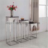 Le vase à fleur de meubles d'acier inoxydable de décoration de maison de bonne qualité rayonne des étagères d'art