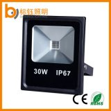 Ultrathin 10W 20W 30W 50W 100W는 세륨 RoHS를 가진 옥외 옥수수 속 LED 투광램프를 방수 처리한다
