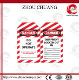 PVC Material Lockout Tag Label mit englischem Language
