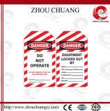 Etiket van de Markering van de Uitsluiting van pvc het Materiële met Engelstalig