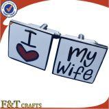 Uitstekende Leuke Cufflinks I van Gunmetal van de Minnaar van het Ontwerp houden van Mijn Vrouw (FTCF1002H)