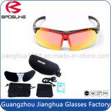 Feito em China personalizou própria motocicleta da bicicleta do tipo que compete a lente polarizada Anti-UV do vintage dos óculos de sol com as 5 lentes permutáveis que ostentam Eyewear
