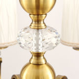 5 de Stof van het Brons van lampen om de Verlichting van de Kroonluchter Lampshape met Kristal