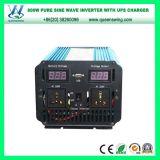 inversor puro da potência solar de onda de seno 800W com carregador do UPS (QW-PJ800UPS)