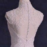 Real Photos Embroidery Beading Tulle A-Line Wedding Dresses (TM-AL127)