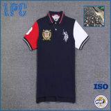 Chemise de polo courte faite sur commande de sports d'hommes de femmes de mode de coton de chemise