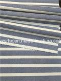 Законченный нашивки 100% обыкновенного толком Weave хлопка ткани белые между синью