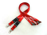 Satin Tube Nylon Woven Jacquard Silk Screen Printing Lanyard