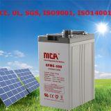 Батарея солнечной силы клетки геля батареи 12 вольтов