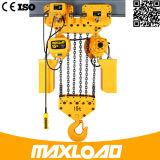 Élévateur à chaînes électrique de 0.5 tonne avec le crochet de levage G70